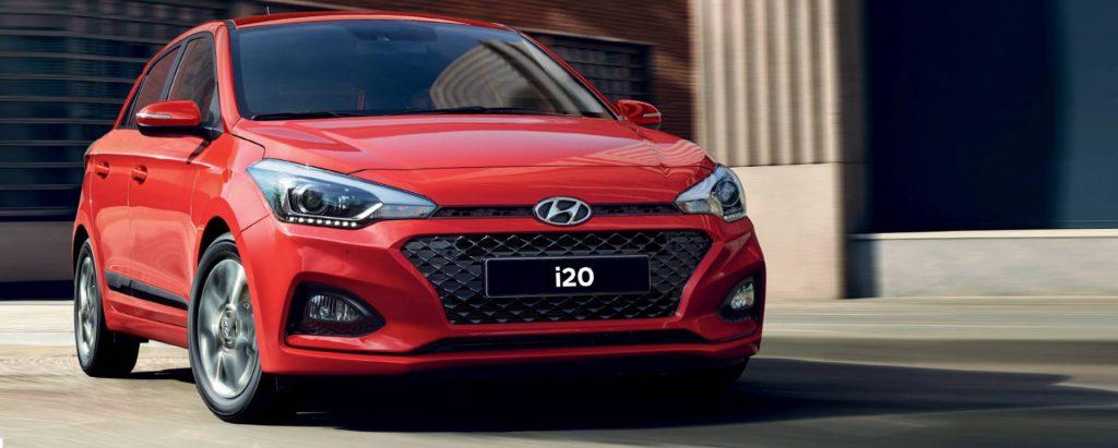 דגם יונדאי i20 בצבע אדום