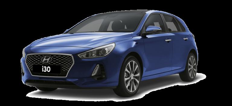 דגם יונדאי i30 בצבע כחול