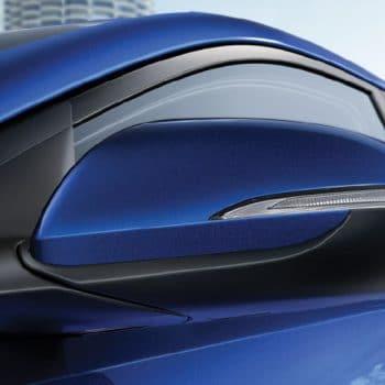 מראה שמאלית של דגם יונדאי אלנטרה כחול