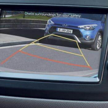 מצלמה בתוך הרכב באולם התצוגה יונדאי הילוך שישי
