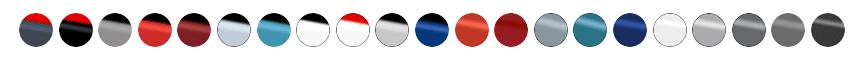 אייקונים של צבעים של דגמי יונדאי